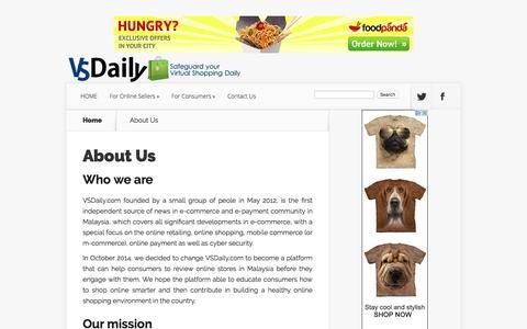 Screenshot of About Page vsdaily.com - About VSDaily.com | VSDaily.com - Safeguard your Virtual Shopping Daily - captured Dec. 2, 2016