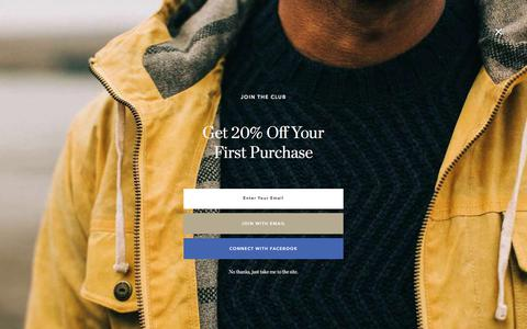 Screenshot of Terms Page taylorstitch.com - Terms and Conditions - Classic Men's Clothing | Taylor Stitch - captured Oct. 27, 2019