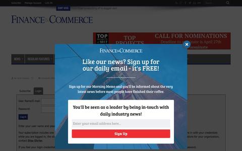 Screenshot of Login Page finance-commerce.com - Finance & Commerce - captured Jan. 28, 2018