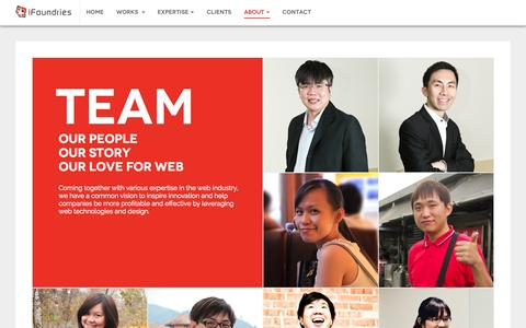 Screenshot of Team Page ifoundries.com - Our Team | iFoundries Singapore - captured Oct. 31, 2014
