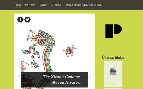 Screenshot of Home Page editorial-paroxismo.com - Editorial Paroxismo - Editorial Paroxismo difunde obras literarias de autores emparentados con la marginalidad. - captured Feb. 1, 2017