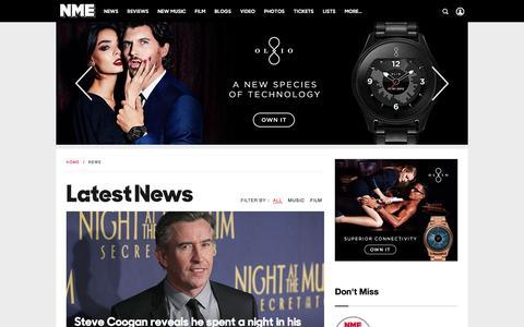 Screenshot of Press Page nme.com - NME Music News | NME.COM - captured Dec. 8, 2015