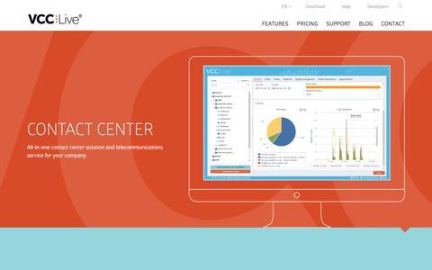 Screenshot of Home Page vcc.live - VCC Live - Contact Center Software - captured Nov. 25, 2017