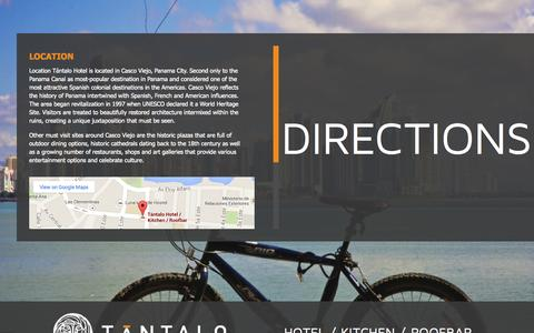 Screenshot of Maps & Directions Page tantalohotel.com - Panama City Panama Hotel Location and Directions | Tántalo Hotel Casco Viejo - captured Oct. 7, 2014