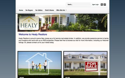 Screenshot of Home Page healyrealtors.com - Welcome to Healy Realtors - captured Sept. 29, 2014