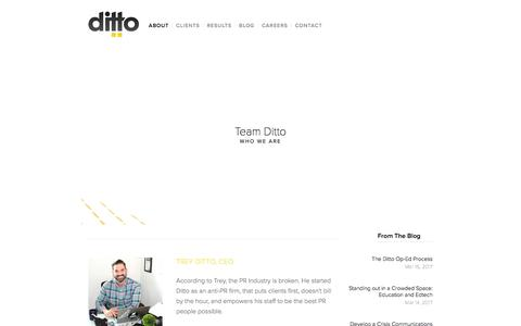 Screenshot of Team Page dittopr.co - Team Ditto — Ditto - captured April 30, 2017