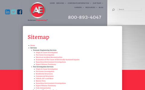Screenshot of Site Map Page aenpi.com - Sitemap - captured Oct. 8, 2017