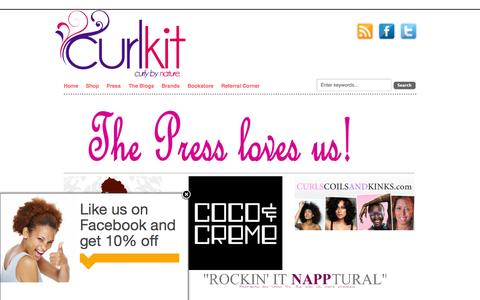 Screenshot of Press Page curlkit.com - PressCurlKit - captured Sept. 30, 2014
