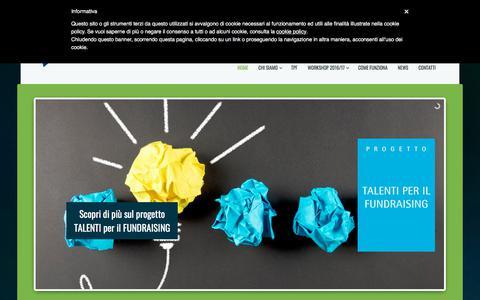 Screenshot of Home Page ricercaetalenti.it - Fondazione Ricerca e Talenti - Fundraising per la ricerca - captured Jan. 10, 2018