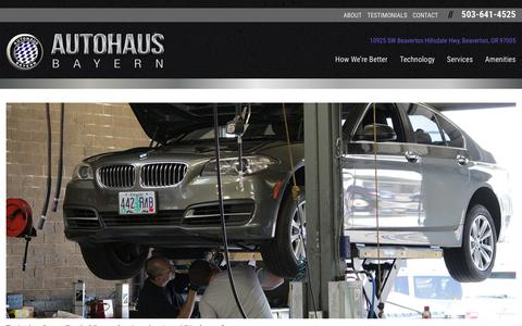 Screenshot of Services Page autohausbayern.com - Services | Autohaus Bayern - captured Oct. 4, 2018