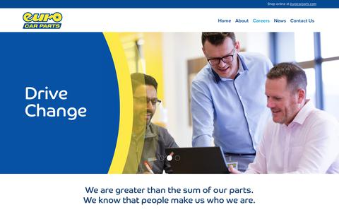 Screenshot of Jobs Page eurocarparts.com - » Careers | Euro Car Parts | UK's Leading Car Parts Supplier| 200 + Branches Nationwide - captured Dec. 11, 2019