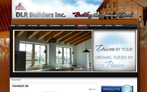 Screenshot of Contact Page dlrbuilders.com - Contact Us - captured Oct. 5, 2014