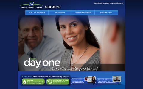 Screenshot of Jobs Page 53.com - Careers at Fifth Third Bank - captured Sept. 18, 2014
