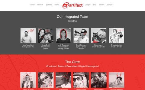 Screenshot of Team Page artifact.co.za - Artifact Advertising | People - captured Nov. 2, 2014