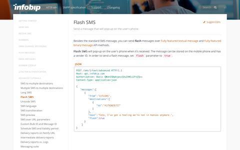 Flash SMS · SMS API | Infobip