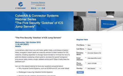 Screenshot of Landing Page cyberark.com - CyberArk Software - captured Sept. 24, 2016