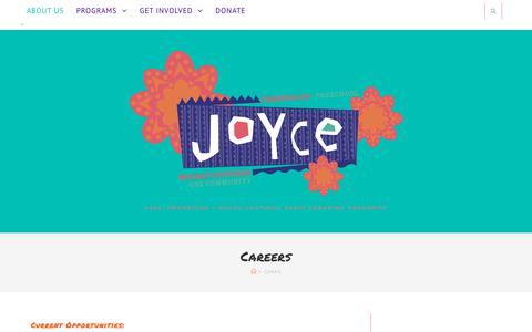 Screenshot of Jobs Page joycepreschool.org - Careers – Joyce Preschool - captured Sept. 20, 2018