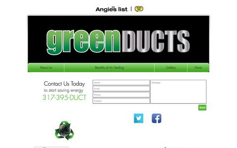 Screenshot of Contact Page greenducts.org - contact - captured May 13, 2017