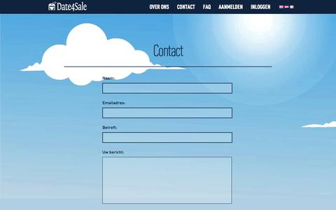 Screenshot of Contact Page date4sale.com - Contact - captured Sept. 30, 2014