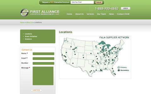 Screenshot of Locations Page falm.com - Pallet Company Locations - Pallet Management Group - captured Oct. 6, 2014