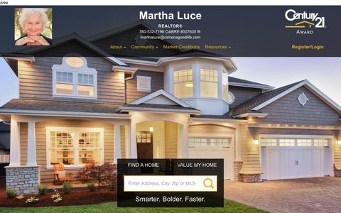 Screenshot of Blog century21award.com - Martha Luce REALTOR CENTURY 21 Award services Ramona and greater San Diego country-to-sea for sellers and buyers dreams & investments. - captured Aug. 26, 2017