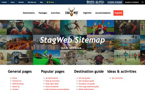 Screenshot of Site Map Page stagweb.co.uk - Sitemap | Find Your Page | StagWeb - captured May 29, 2019