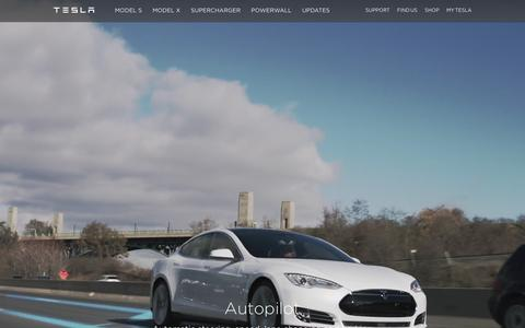 Screenshot of Home Page teslamotors.com - Tesla Motors | Premium Electric Vehicles - captured Feb. 20, 2016