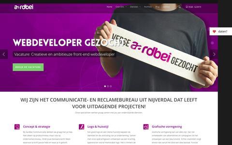 Screenshot of Home Page aardbei-communicatie.nl - Jouw Reclamebureau - Aardbei Communicatie - captured Sept. 30, 2014