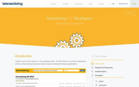 Screenshot of Developers Page arewedoing.com - Developers - Arewedoing - captured Dec. 21, 2016