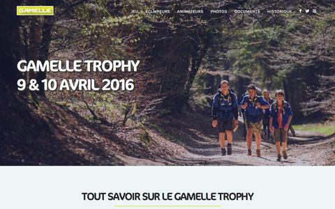 Screenshot of Home Page gamelle.org - Gamelle Trophy - 9 & 10 avril 2016 - captured March 12, 2016