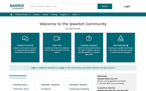 Ipswitch Customer Community