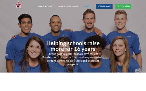 Screenshot of About Page boosterthon.com - Boosterthon School Fundraising Company: Reviews & Meet the Team - captured Sept. 19, 2018