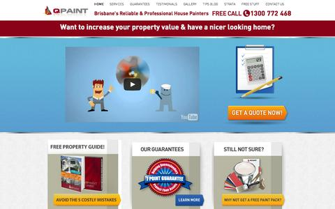 Screenshot of Home Page qpaint.com.au - Brisbane House Painting Company and Painters - QPaint - captured June 17, 2015