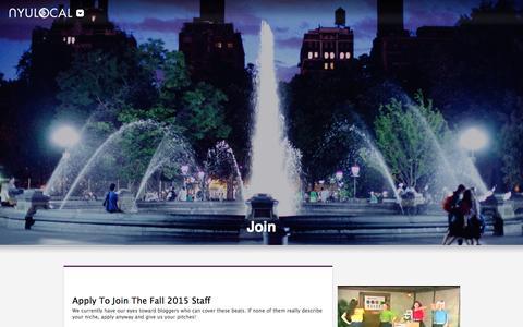 Screenshot of Signup Page nyulocal.com - Join - NYU Local : NYU Local - captured Jan. 12, 2016