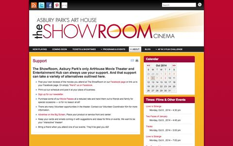 Screenshot of Support Page theshowroomap.com - Support - The ShowRoom - captured Oct. 6, 2014