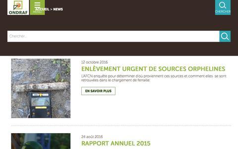 Screenshot of Press Page ondraf.be - Search | Ondraf - captured Nov. 29, 2016