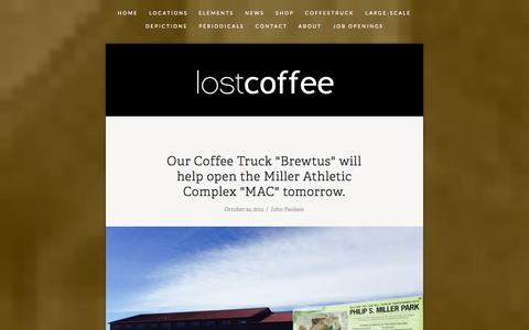 Screenshot of Press Page lostcoffee.com - News — LostCoffee - captured Oct. 28, 2014