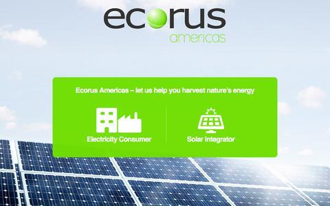 Screenshot of Home Page ecorusamericas.com - Ecorus Americas - captured July 16, 2018