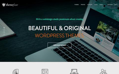 Screenshot of Home Page themefuse.com - Premium WordPress Themes and WordPress Templates | ThemeFuse - captured Sept. 18, 2014