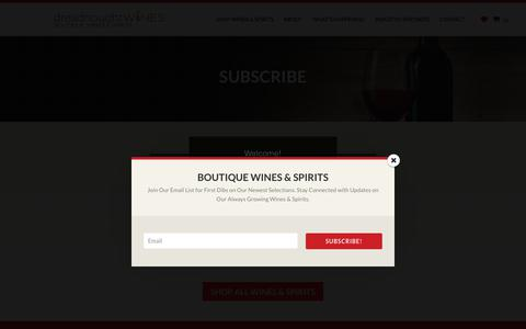 Screenshot of Signup Page dreadnoughtwines.com - Subscribe | Dreadnought Wines - captured Aug. 8, 2018