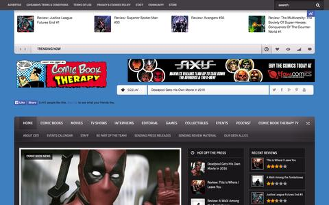 Screenshot of Home Page comicbooktherapy.com - Comic Book Therapy : Comic Book News, Reviews, Previews, Interviews! - captured Sept. 23, 2014