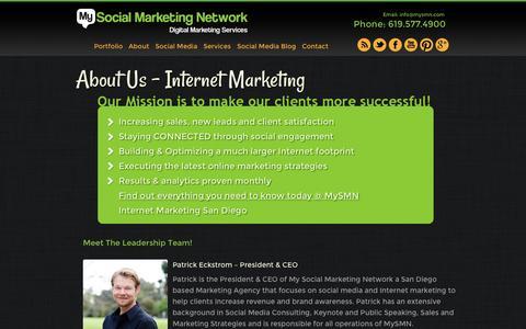 Screenshot of About Page mysmn.com - About Us | MySMN San Diego - Call 877.576.9766! - captured Oct. 26, 2014