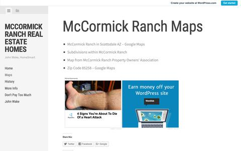 Screenshot of Maps & Directions Page wordpress.com - McCormick Ranch Maps | McCormick Ranch Real Estate Homes - captured Oct. 30, 2018