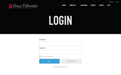 Screenshot of Login Page gracefellowship.net - Login - Grace Fellowship - captured Nov. 13, 2016