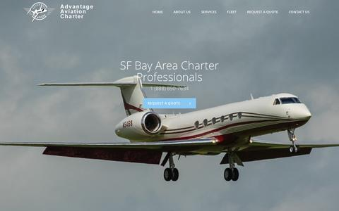 Screenshot of Home Page aacjet.com - Advantage Aviation Charter | - captured Sept. 12, 2015