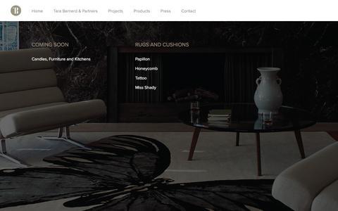 Screenshot of Products Page tarabernerd.com - Tara Bernerd & Partners |   Products - captured Feb. 13, 2016