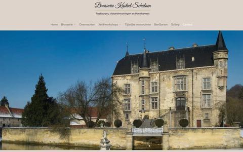 Screenshot of Contact Page schaloen.nl - Contact    Brasserie Kasteel Schaloen   Restaurant, Vakantiewoningen en Hotelkamers - captured Jan. 17, 2018