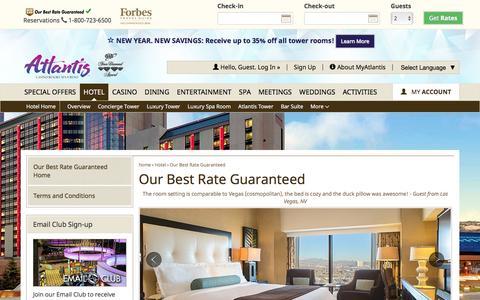Screenshot of atlantiscasino.com - Atlantis Best Rate Guaranteed | Atlantis Casino Resort Spa - captured Jan. 16, 2017