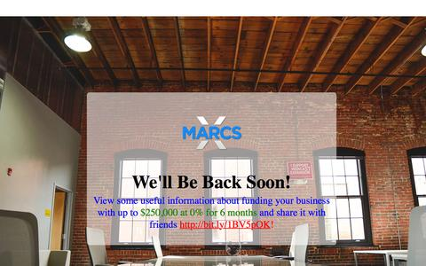 Screenshot of Home Page xmarcs.com - XMARCS > The Optimization Experts | Business Consulting & Application Services - captured Oct. 12, 2015