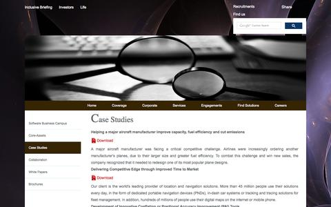 Screenshot of Case Studies Page global-grp.com - Global Grp - captured Oct. 31, 2014